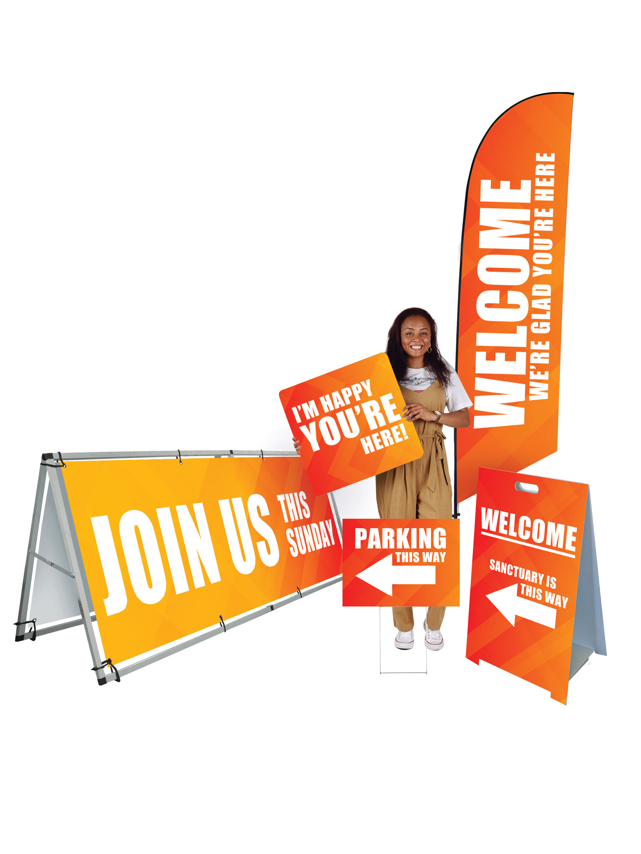 Indoor/Outdoor Welcome Banner Sets